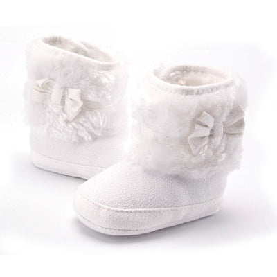Bowknot Fleece Snow Boots