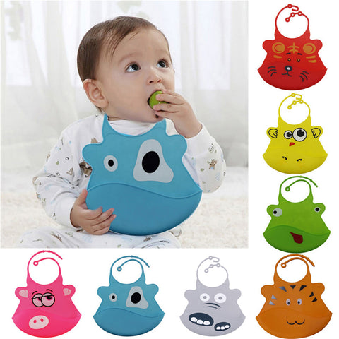 Cartoon Waterproof Silicone Bib