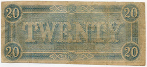 Confederate States of America $20, Richmond, February 17, 1864