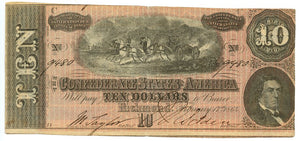 Confederate States of America $10, February 17, 1864
