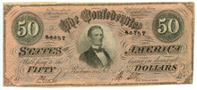 Confederate States of America $50, T-66, February 17, 1864