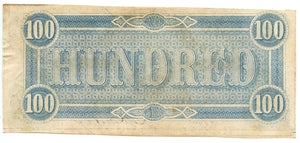 Confederate States of America $100, February 17, 1864