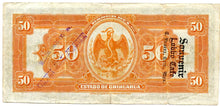 Mexico 50 Pesos, 1913, P. S135 Ad Note