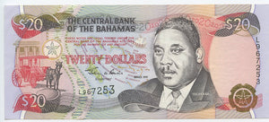 Bahamas, The Central Bank of the Bahamas, $20, 1997, P. 65