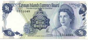 Cayman Islands $1, 1971 (1972), P. 1A