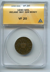 Ireland Shil Gun Money, 1690