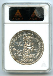 Canada $1 Proof Like, 1958