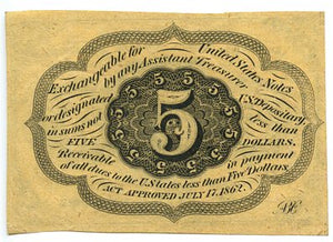 5 Cents Postage Currency, 1st Issue, FR. 1230, 1862-63