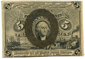 5 Cents, U.S. Fractional Currency 1863-7, 2nd Issue
