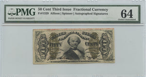 50 Cents, Fractional Currency, 3rd Issue, FR. 1329, 1864-69