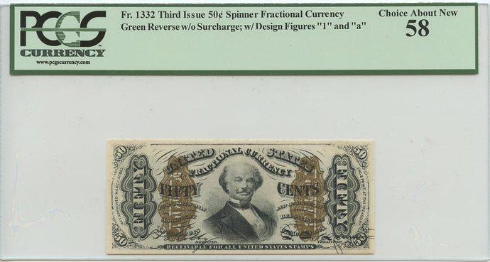 50 Cents, U.S. Fractional Currency, 1864-69, 3rd Issue, FR. 1332