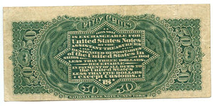 50 Cents, U.S. Fractional Currency, 4th Issue, 1869/75, FR. 1374