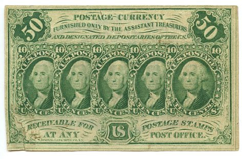 50 Cents, U.S. Postage Currency, 5th Issue, 1874/76, FR. 1312