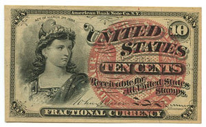10 Cents, U.S. Fractional Currency, 4th Issue, 1869/75, FR. 1257