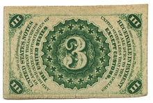 3 Cents, U.S. Fractional Currency, 3rd Issue, 1864/69. FR. 1226