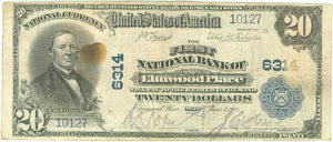 Ohio-Elmwood Place, The First National Bank of Elmwood Place, $20, 1902 PB