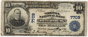 Virginia-Petersburg, The Virginia National Bank of Petersburg, $10, 1902 PB