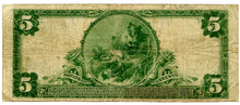 Indiana-Richmond, The First National Bank of Richmond $5, 1902 PB