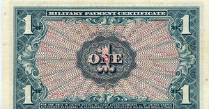 United States Military Payment Certificate $1, Series 611