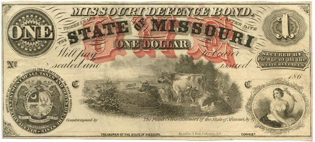 Missouri, The State of Missouri Defence Bond $1, 186_