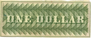 Washington, D.C., The Bullion Bank $1, July 4, 1862