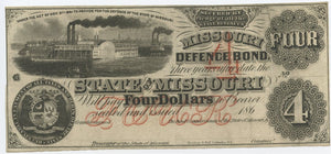 Missouri, State of Missouri Defence Bond $4, 186_
