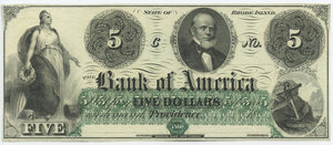Rhode Island-Providence, The Bank of America $5, 18_
