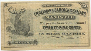 Michigan-Manistee, Engle, Bacock & Salling 25 Cents