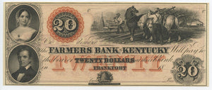 Kentucky-Frankfort, Farmers Bank of Kentucky $20, 18_