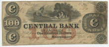 Alabama-Montgomery, $100, Oct 1 ,1857. The Central Bank of Alabama