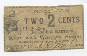 New Hampshire-Manchester, At Page & Martin's Meat and Grocery Store, November 25, 1863
