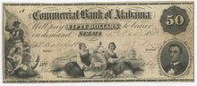 Alabama-Selma, Commercial Bank of Alabama $50, Nov. 1, 1856