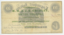 Indiana-Logansport, M.H. & J.E. Gridley 10 Cents