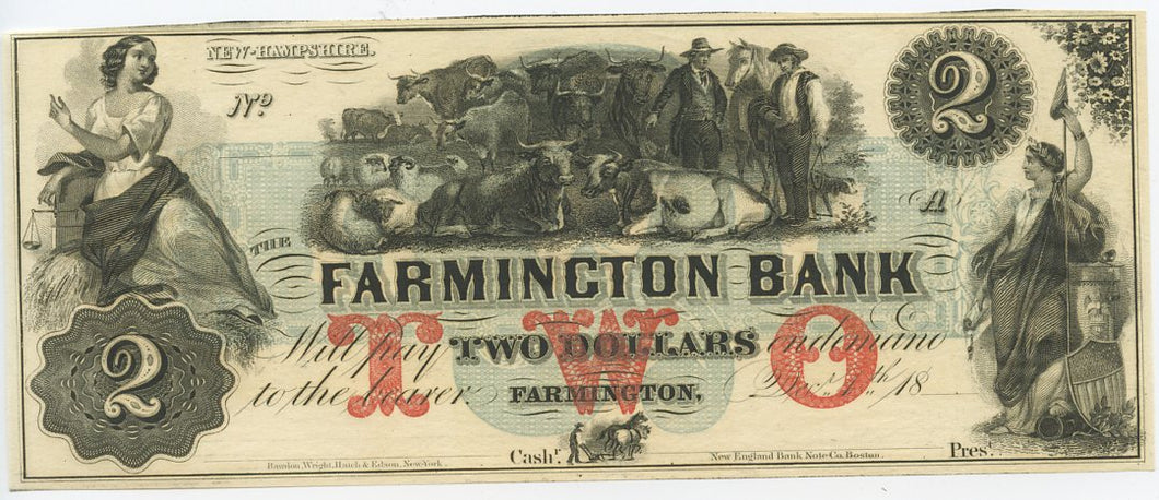 New Hampshire-Famington, The Farmington Bank $2, 18_