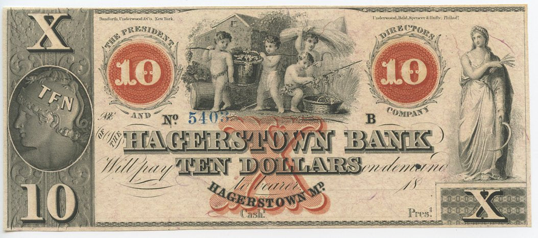 Maryland-Hagerstown, The Hagerstown Bank $10