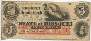 Missouri, The State of Missouri Defence Bond $3, 186_