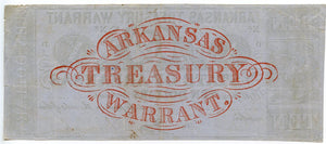 Arkansas, Arkansas Treasury Warrant $10, December 10, 1864