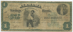Alabama-Montgomery, The Alabama Savings Bank of Montgomery $1.00, Jan 1873