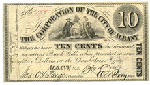 New York-Albany, The Corporation of the City of Albany 10 Cents, July 17, 1862