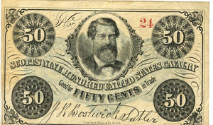 New York, Sutler Note, Scotts Nine Hundred United States Calvary