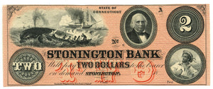 Connecticut-Stonington, The Stonington Bank $2, 18_