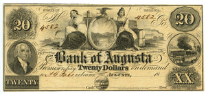 Georgia-Augusta, The Bank of Augusta $20, 18_