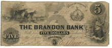 Vermont-Brandon, The Brandon Bank $5, May 1, 1862
