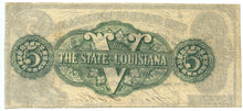 Louisiana-Shreveport, The State of Louisiana $5, March 10, 1863