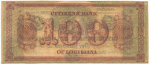Louisiana-New Orleans, Citizens' Bank of Louisiana $100