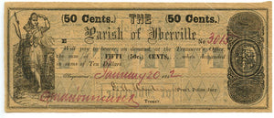 Louisiana-Plaquemine, Parish of Iberville 50 Cents, January 20, 1862