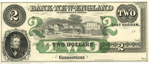 Connecticut-East Haddam, The Bank of New England at Goodspeed's Landing $2, 18_