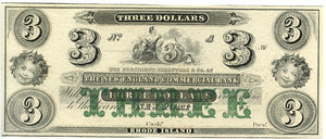 Rhode Island-Newport, The New England Commercial Bank $3, 18_