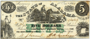 Alabama-Montgomery, The State of, 1864 $5.00