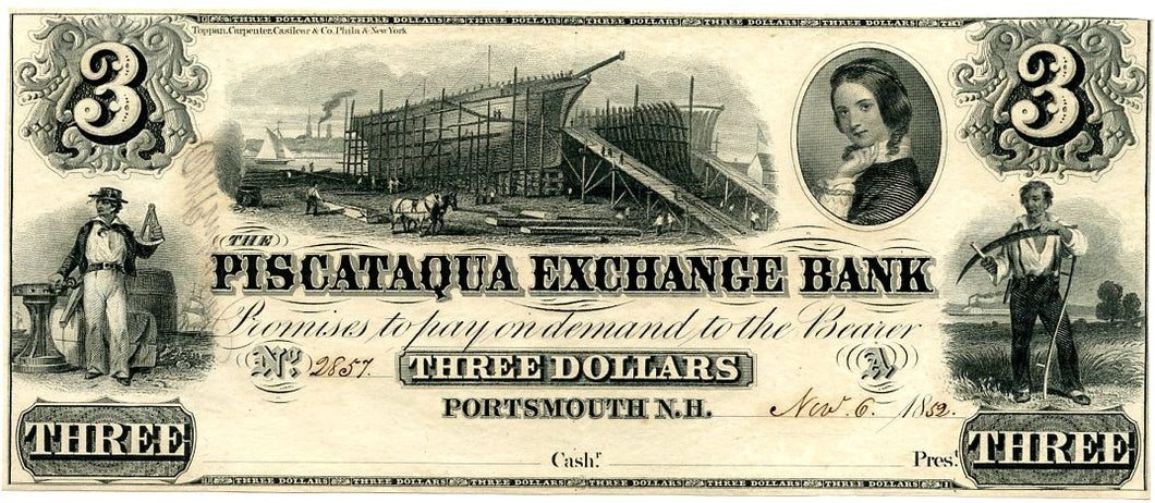 New Hampshire-Portsmouth, The Piscataqua Exchange Bank, November 6, 1852
